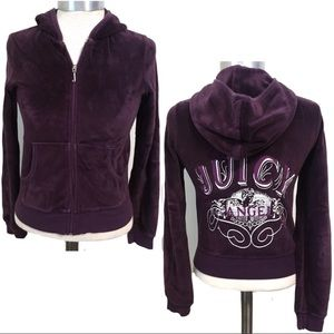 Original Juicy Couture Purple Velour Track Jacket